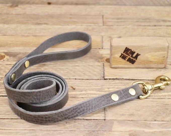 Dog leash, Wolf grey, Leather dog leash, Pet gift, Walk leash, Lead, Handmade leather leash, Dog collar, Dog, Small dog, puppy