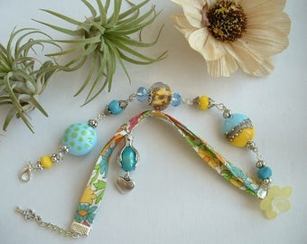 DOUBLE BRACELET LIBERTY AND THE COLORS OF SUMMER GLASS BEAD