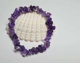 Amethyst Bracelet, Amethyst, Crystal Bracelet,Chip Bracelet,Crystal Healing,Stretch Bracelet,Stretchy Bracelet,Yoga Bracelet,Purple Bracelet