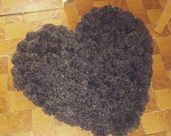 Heart shaped Pom Pom rug