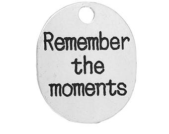 Pack of 5 Remember the Moments Charms, Antique Silver  (2096)