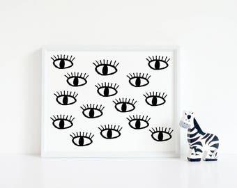 Instant Download, All Seeing Eye, Printable Art, Printable, Home Decor, Eyes, Motivational, Printable Wall Art