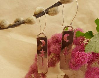 Moonlight Over Conifers Earrings
