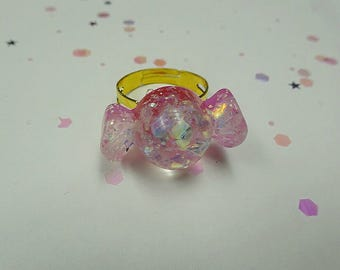 Pink Sparkle Candy Ring