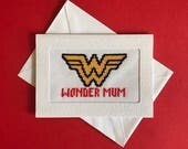 Custom triple card kit - Smiley face card, Wonder Mum card & Pizza card