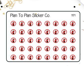 1171~~No Soda Tracker Planner Stickers.
