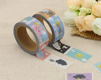 Washi Tape - Weather Washi Tape - Rainbow Washi Tape - Paper Tape - Planner Washi Tape - Washi - Decorative Tape - Deco Paper Tape
