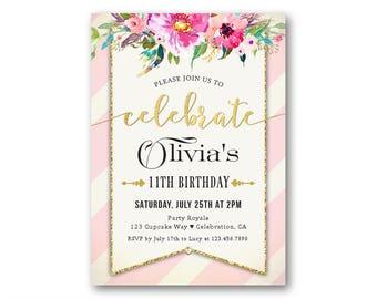 Birthday invitation kids Etsy