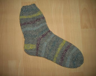 Thick socks, wool socks, hand knitted, feet 25.5 cm, size 41 / UK 7 / US 9