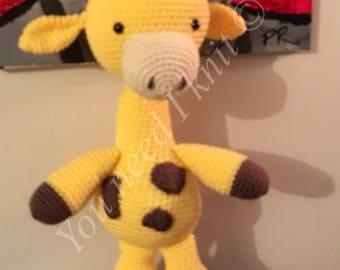 Amigurumi giraffe/ crochet giraffe plush/ giraffe stuffed animal/ crochet giraffe/ baby giraffe/ decoration giraffe