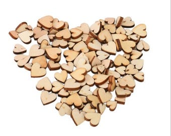 Wooden Hearts, Laser Hearts, Wedding Hearts, Rustic Wedding, Table Confetti, Nature Wedding, Wooden Shapes, Scatter Hearts,