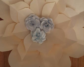Paper Flower Template in SVG and  PDF digital file #54