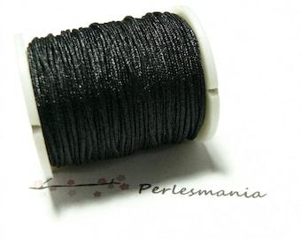 Finish jewelry 10 meters 0.8 mm wire nylon black shambala
