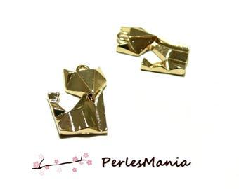 1 pendant, charm 22mm Fox ORIGAMI DORE S1182682