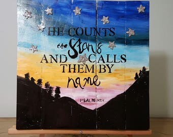 He counts the stars and calls them by name Psalm 147:4