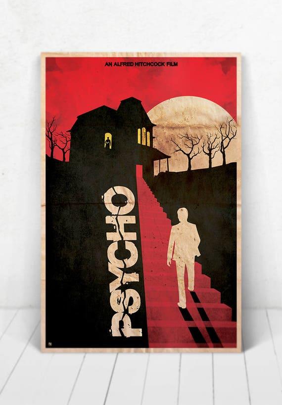 Psycho Movie Poster Illustration / Psycho Movie Poster / Movie Poster / Psycho