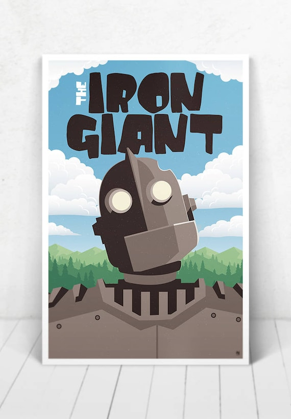 The Iron Giant Movie Poster - Illustration / The Iron Giant Movie Poster / The Iron Giant