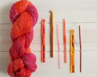 Te-Ka: Disney themed hand dyed lace weight yarn, 100g linen - silk - merino