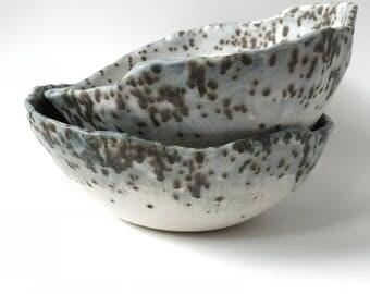 Blue Meteorite Serving Bowl