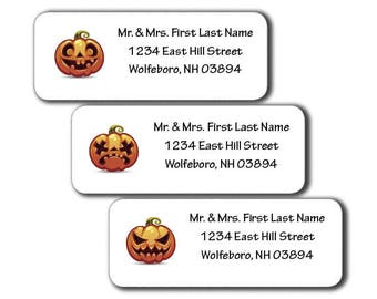 Jack-O-Lanterns - Halloween Design Labels - DIY Printable - Customizable - Editable PDF