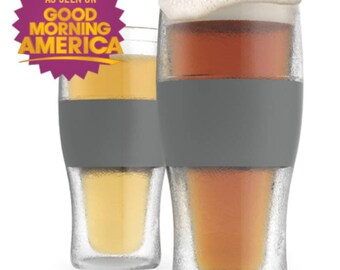 Host Freeze Cooling Pint Drinking Glasses Keeps Drink Cool Longer Time