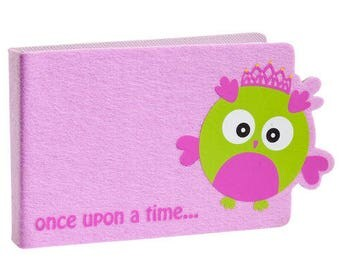 Beautiful Once Upon A Time Girls Princess Owl Photo Album In Pink