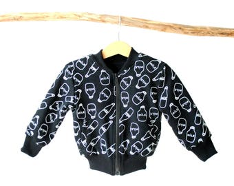 Black milk baby bomber jacket. baby bomber. toddler bomber