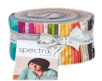 Moda Spectrum Jelly Roll by Vanessa Christenson of V and Co.