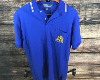 Vintage 90s Polo Ralph Lauren Shirt Crest Sz M