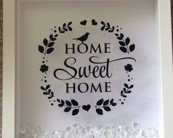 Beautiful 'home sweet home' frame