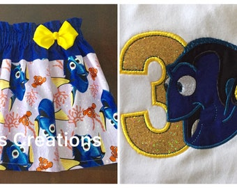 Dory Birthday Outfit, Finding Dory Birthday Outfit, Birthday Outfit with Dory