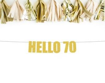 70th birthday banner | Etsy