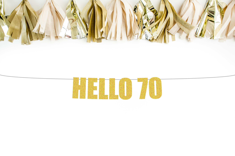70th birthday banner