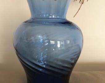 Vintage Cobalt Blue Glass Vase