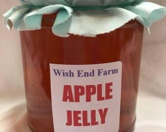 Apple Jelly, Homemade 200g (7oz) Jar, No Preservatives, Hostess Gift, Chutney, Food Gift, Homemade Jam,