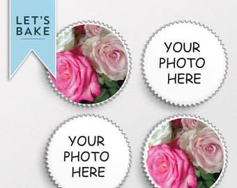 YOUR PHOTO / TEXT printed,cupcake topper,cake topper,edible,rice paper,photo cake topper,photo cupcake toppers,personalised cake,custom cake