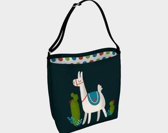 """""""Happy llama"""" shoulder bag"""
