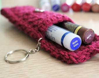 LipSense Carrying case lipsense pouches lipstick case gloss case handmade crochet