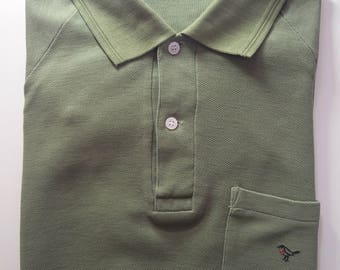 Vintage Original PGCA Red Robin Polo Shirt in Olive Green