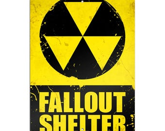"Fallout Shelter Novelty Metal Sign 6"" X 9"""