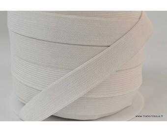 Mesh 20mm white elastic