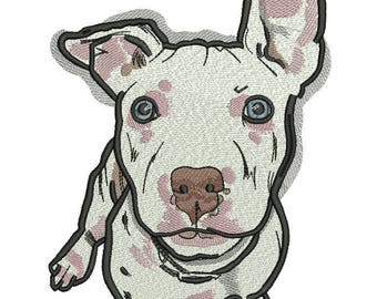 Machine Embroidery Design - Pit Bulls   Embroidery Dog 5*7, 6*8
