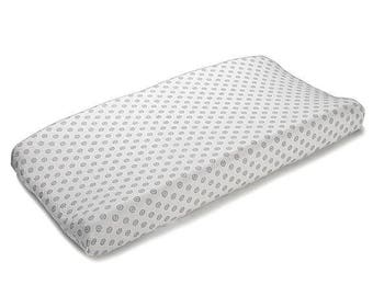 Gray Chelsea Contoured Changing Pad Cover | Gray Crib Bedding | Gray Changing Pad Cover | Gray Nursery