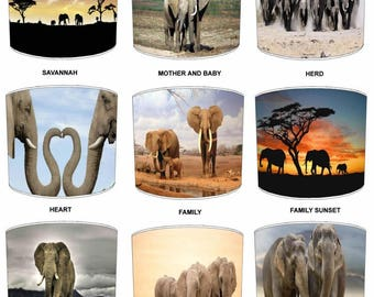 Elephant Lamp shades, To Fit Either a Table Lamp base or a Ceiling Light Fitting.