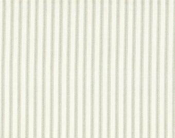 "63"" Rod Pocket Curtain Panels, Seafoam Green Ticking Stripe, Unlined"
