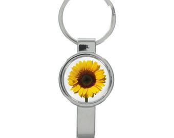 Sunflower Image Cap Remover Keyring Boxed