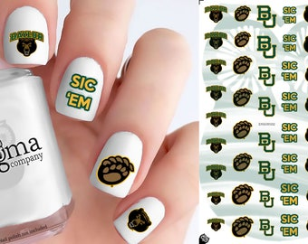 Baylor University Bears Nail Decals (Set of 50)