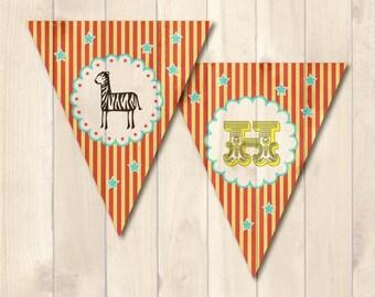 Carnival themed <Happy Birthday> Banner Digital File