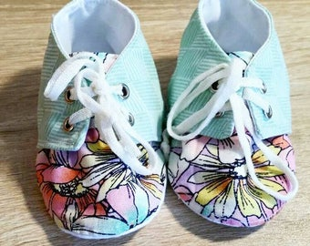 Pastel Floral Sneakers for girls