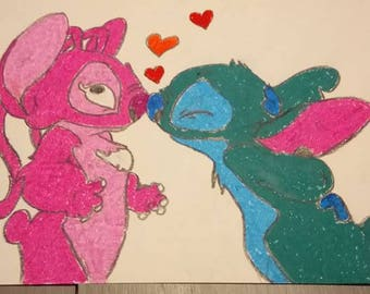 drawing squirrel loving couple